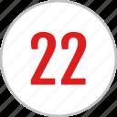 number, 22