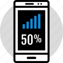 data, fifty, infographic, information, seo icon