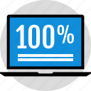 data, hundred, infographic, information, laptop, one, percent icon