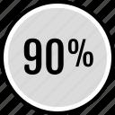 data, infographic, information, ninety, percent, seo icon