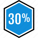 data, infographic, information, off, percent, seo, thirty icon