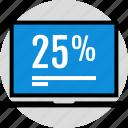 data, half, infographic, information, percent, seo, twenty icon