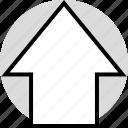 arrow, data, infographic, information, seo, up, upload icon