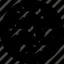 data, graphic, seven, stars icon