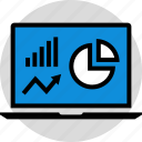 arrow, chart, data, graph, infographic, information, seo icon