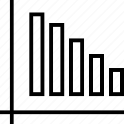 bars, data, down, graphics, info icon