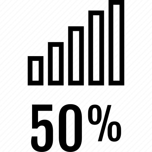bars, data, fifty, graphics, info, up icon