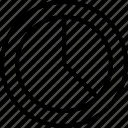 data, graphics, info, one, third icon