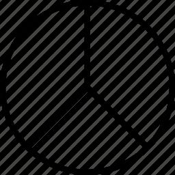 data, divide, graphics, info, pie, three icon