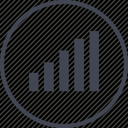 bars, data, information, up icon