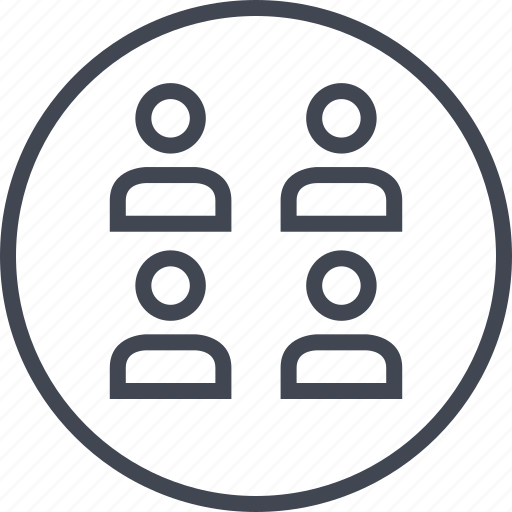data, four, information, users icon