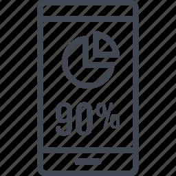 data, information, ninety, percent icon