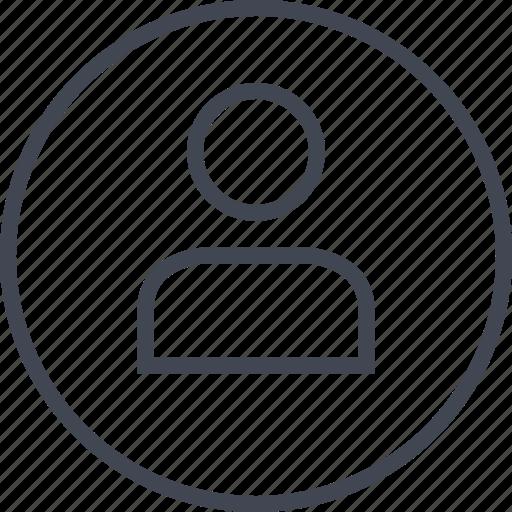 data, information, single, user icon