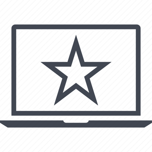 laptop, special, star, user icon