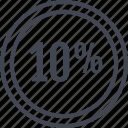 data, information, percent, ten icon