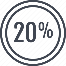data, information, percent, twenty icon