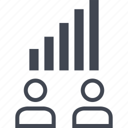 data, information, two, users icon