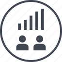 data, two, up, users icon