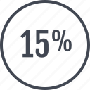 fifty, percent, rate, revenue, save icon