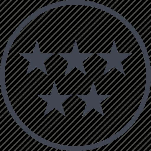 data, five, graph, report, stars icon