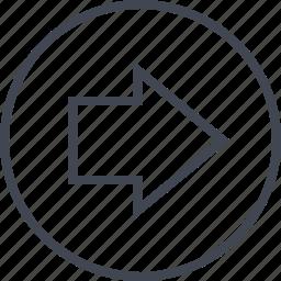 arrow, forward, go, point icon