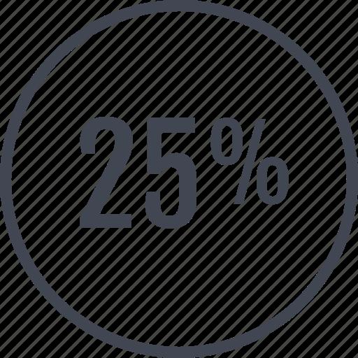 data, graphic, info, percent, quarter icon