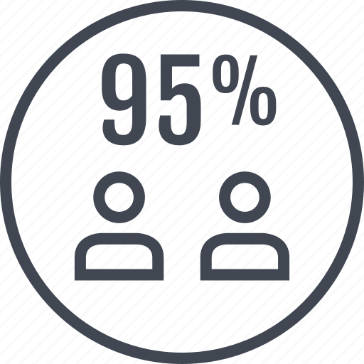 five, ninety, percent, two, users icon