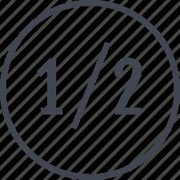 data, half, off, one, percent icon