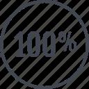 full, hundred, one, percent icon