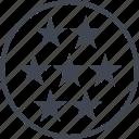 graph, report, seven, stars icon