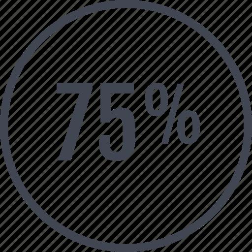 data, five, graphic, percent, seventy icon
