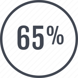 online, percent, rate, sixty, web icon