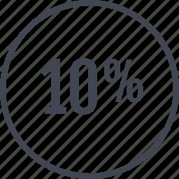 data, graphic, info, percent, ten icon