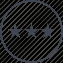 data, graph, stars, three icon
