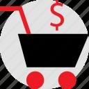 cart, dollar, holiday, savings, season, shopping, sign icon