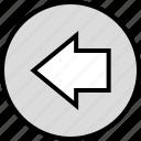 arrow, data, infographic, information, left, point, seo icon