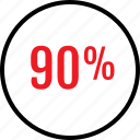 data, infographic, information, ninety, percent, rate, seo icon