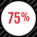 data, infographic, information, percent, rate, seo, seventyfive icon
