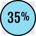 interest, off, percent, save, savings icon