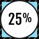 interest, off, percent, quarter, savings icon