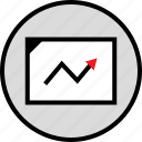 arrow, data, infographic, point, seo, up, web icon