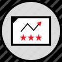 arrow, data, infographic, seo, stars, up, web icon
