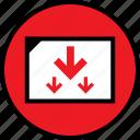 arrows, data, infographic, seo, three, web icon