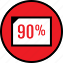 data, infographic, ninety, percent, rate, seo, web icon