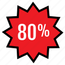 data, eighty, infographic, percent, rate, seo, web icon