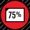 data, five, infographic, page, seo, seventy, web icon