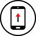 arrow, data, infographic, mobile, seo, up, web icon
