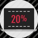 data, infographic, laptop, twenty percent