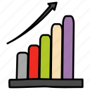 business chart, business development, growth chart, increase graph, revenue growth, sales growth icon