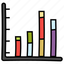 bar chart, bar graph, infographic, segmented bar graph, stacked column, statistics icon